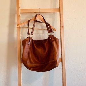 Genuine Soft Leather Hobo Handbag The Sak